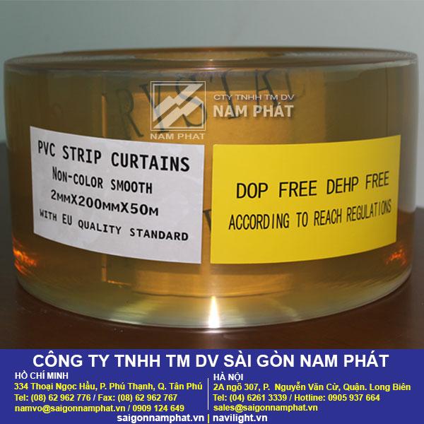 Màn nhựa PVC trong suốt không chứa chất DOP, DEHP